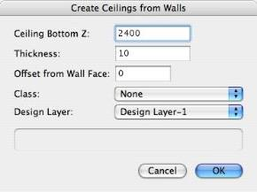 Create Ceilings From Walls