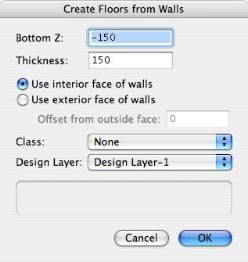 Create Floors From Walls